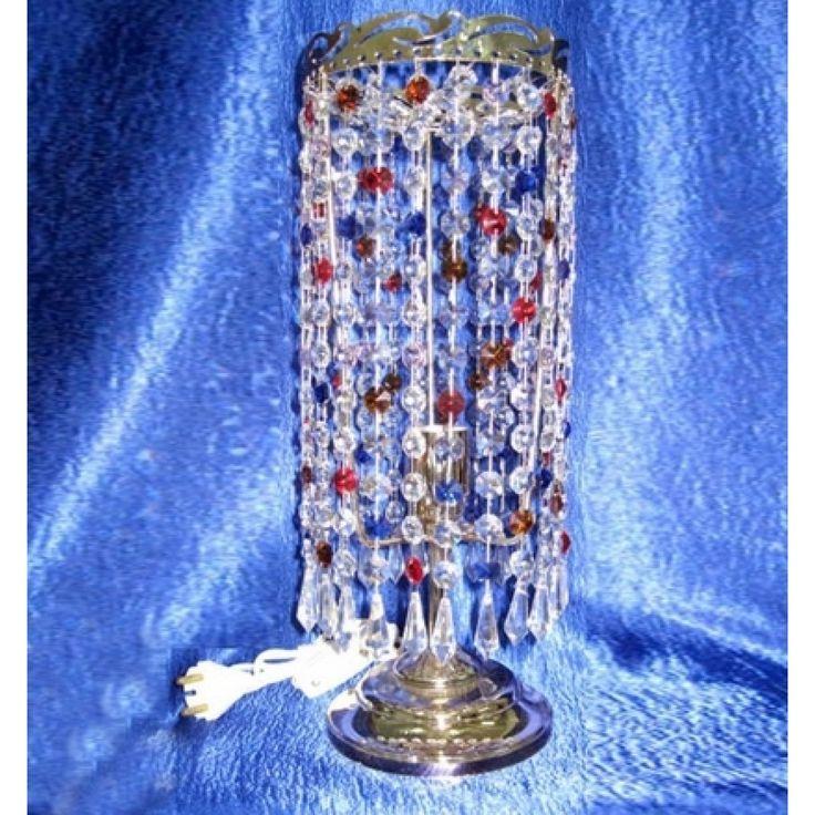 Купить настольную лампу хрустальную Анжелика Меланж Карандаш в интернет-магазине Люкс Свет +7 (4922) 60-02-05, низкая цена от производителя из Гусь-Хрустального, фото, отзывы
