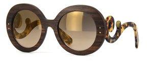 Óculos de sol Prada Raw Baroque Madeira 27RS Havana