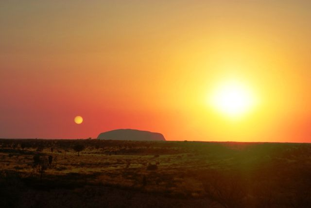 Sunrise over Uluru, Australia
