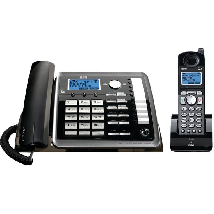 Rca 2-line Corded And Cordless Expandable Phone With Caller Id & Answerer