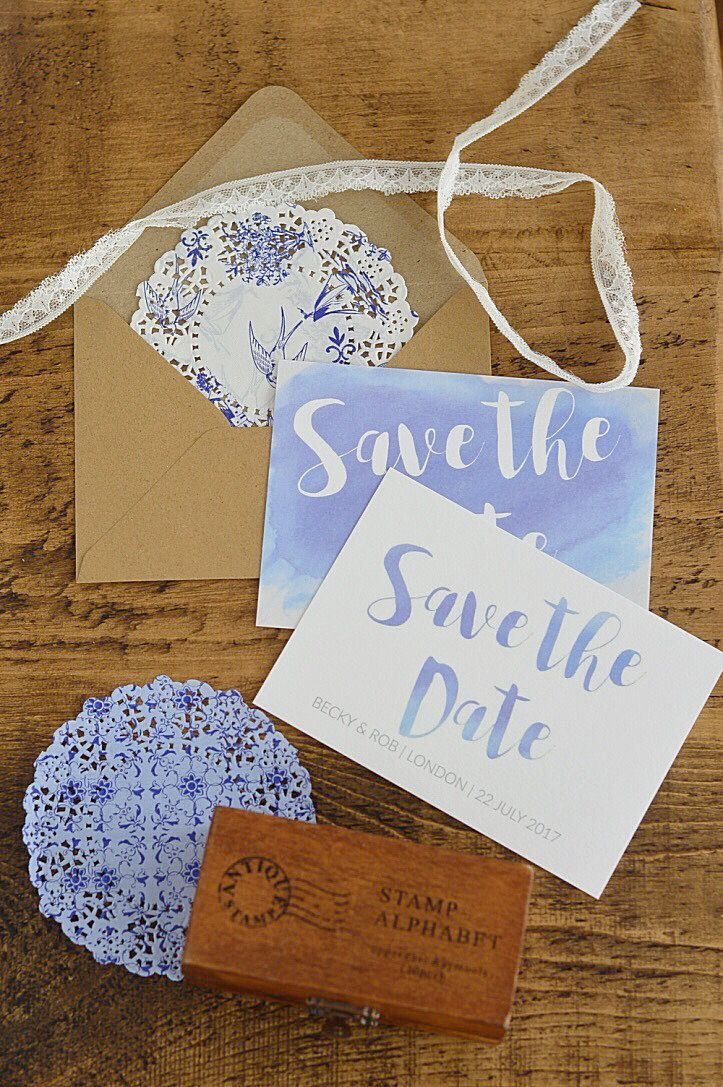 diy wedding invites south africa%0A HOW TO  Create Watercolour Text for Wedding Stationery