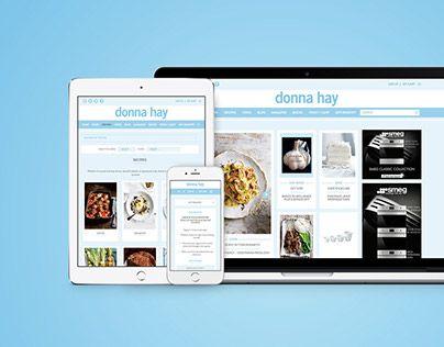 """@Behance portfolio: """"Donna Hay: Website Design"""" http://be.net/gallery/49636103/Donna-Hay-Website-Design"""