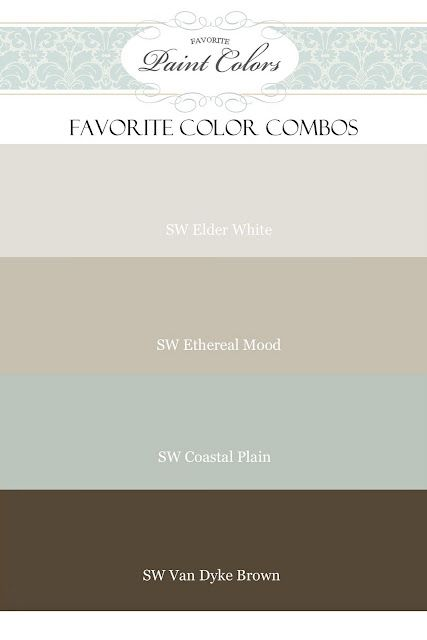 beautiful color palette of sherwin williams colors