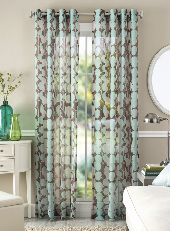Better Homes And Garden Vine Leaf Curtain Panel Colorful Vines And Printed  Texture Leaves Form A Vertical Pattern All Over The Panel.