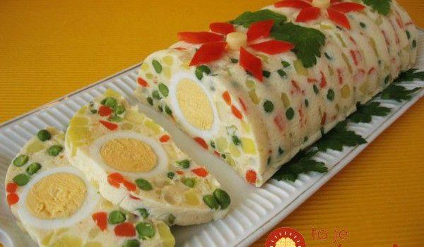 Veľkonočná vajíčkovo-zeleninová rolka