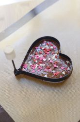 homemade chocolate gifts - all you need is chocolate bars, a heart mold, decorative toppings!