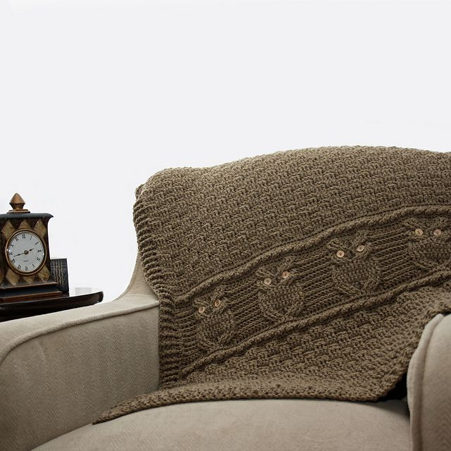 Night Owl Decorative Throw pattern by Kim Miller