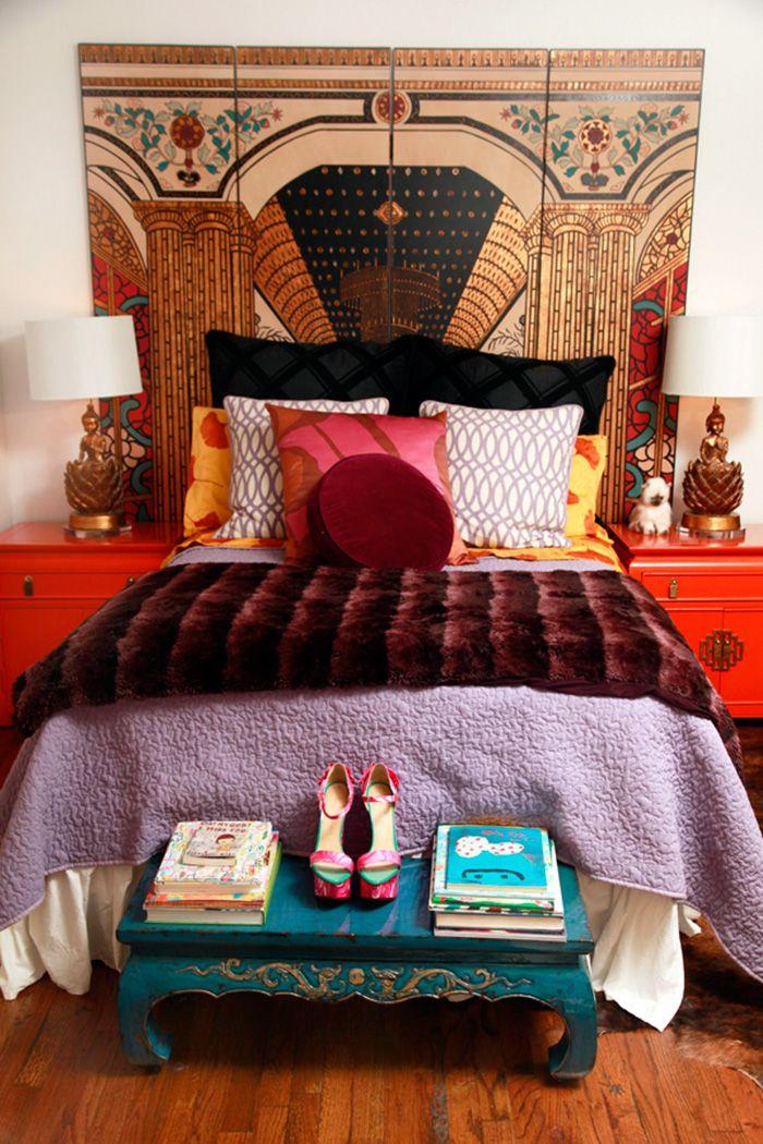 My favorite room decor ever. Jane Aldridge's Bedroom | pattern mixing | home decor