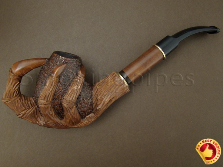 RARE Long Tobacco Smoking Pipe Hand Carved EAGLE´S CLAW | eBay
