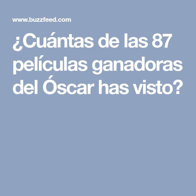¿Cuántas de las 87 películas ganadoras del Óscar has visto?