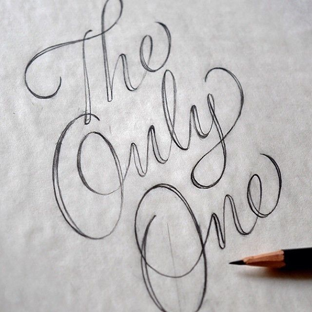 "« ""The Only One"" by @typelettering #goodtype #lettering #handletter #script #theonlyone »"