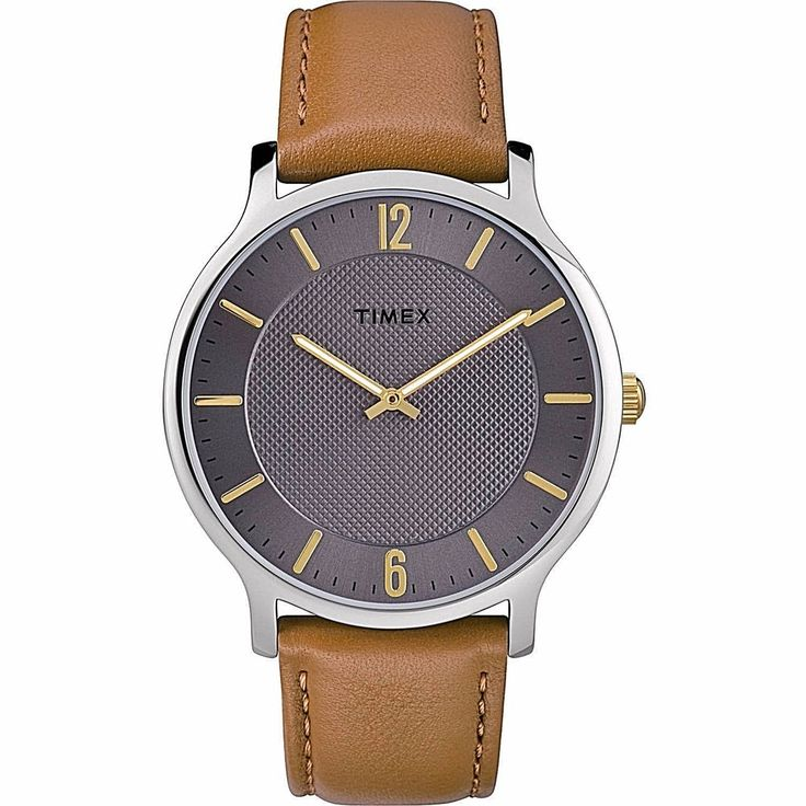Timex Analog Easy Reader Watch 40mm/Brown Leather Strap Classic NEW             #Timex