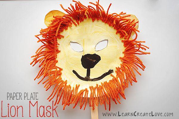 Lion Maske Craft Preschool