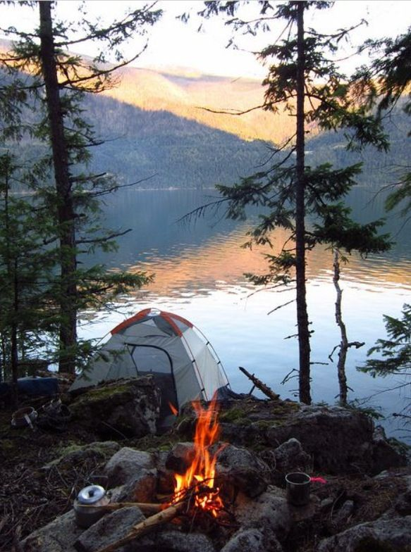 Camping On The Lake Nature Scenery Photography