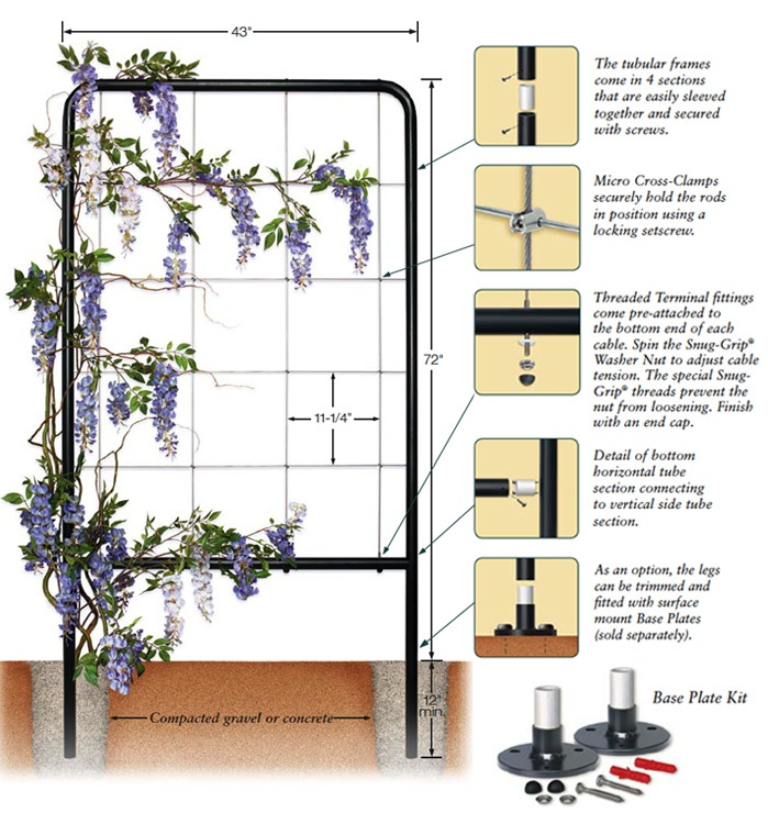 The Greenway Is An Elegant, East To Install Freestanding Trellis Panel Kit  For Light To Medium Weight Foliage; Use Multiple Panels To Create A Garden  Oasis.