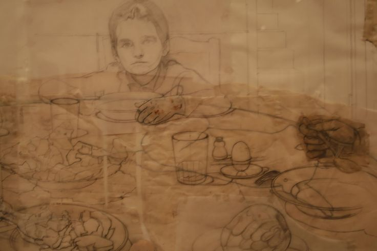 antonio lopez garcia drawing - collage and planning