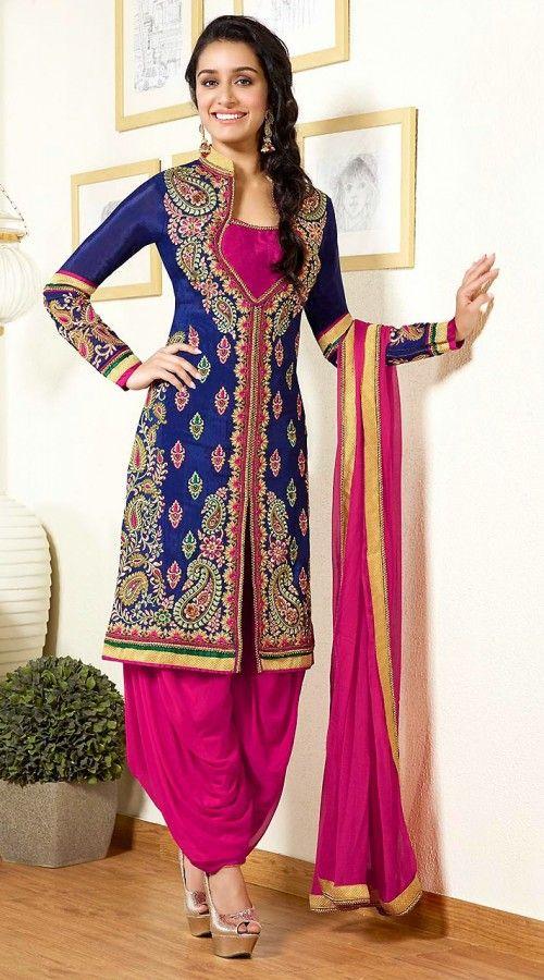 Shraddha Kapoor In Blue Punjabi Suit AG112855