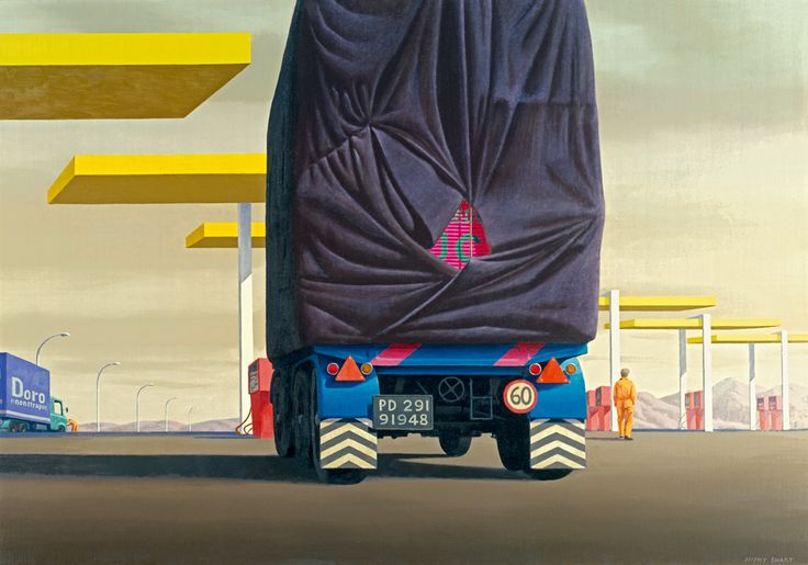 Jeffrey Smart Service station Calabria 1977