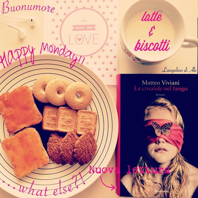 Nuova settimana...nuova lettura! #nuovalettura #nuovoinizio #buonlunedi #happymonday #matteoviviani @matteo_viviani_iena #bloggeritalia #happiness #buonumore #latteebiscotti #lettura #fettebiscottate #macine #galletti #mondadori #mondadorielecta @librimondadori #dowhatyoulove #postcard di @okkinotturni #instabook #instalibri #booklovers #bookblog #vitadablogger #bookstagram #bookbreakfast #lacrisalidenelfango @bloggeritalia #libridaleggere
