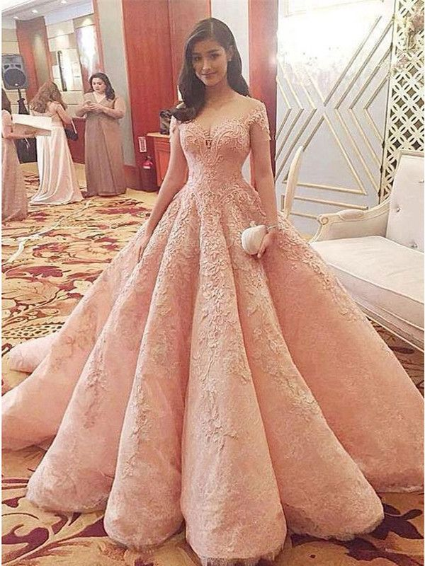 prom dresses for curvy girls, A-line Off-the-shoulder Floor-length Tulle Prom Dress Evening Dress MK186