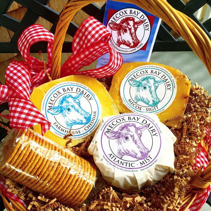 Local artisan cheese gift basket