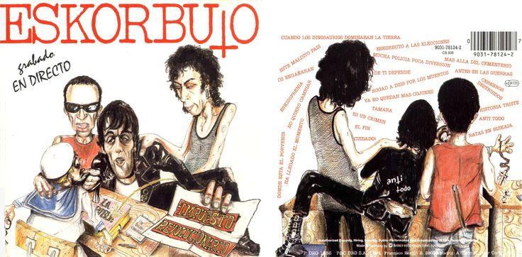 """1986 - Ilustración a lápiz y portadas """"Impuesto Revolucionario"""" - Eskorbuto. Con Pablo Cabeza."""