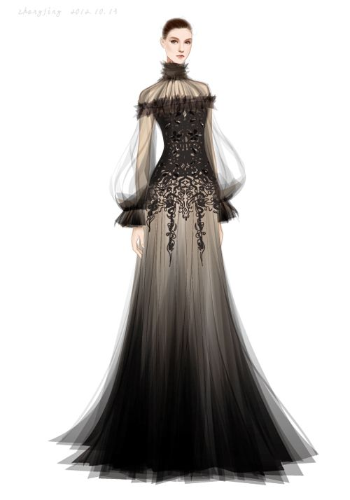 50 Fashion Illustration by adobe illustrator——Alexander McQueen