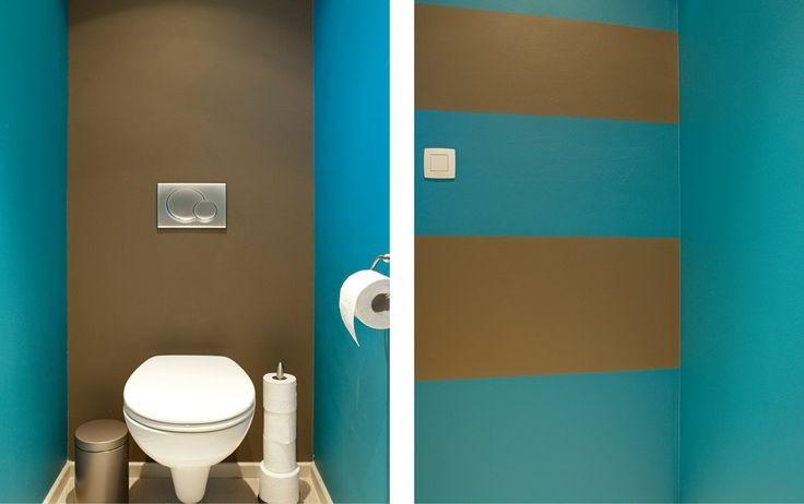 Met gemak kleuren kiezen voor je toilet idee n voor het huis pinterest - Couleur peinture toilettes ...