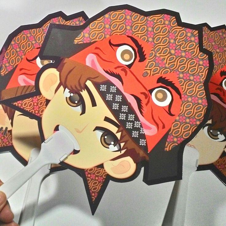 """Paper Fan INFINITE fanart """"cepot hat"""""""