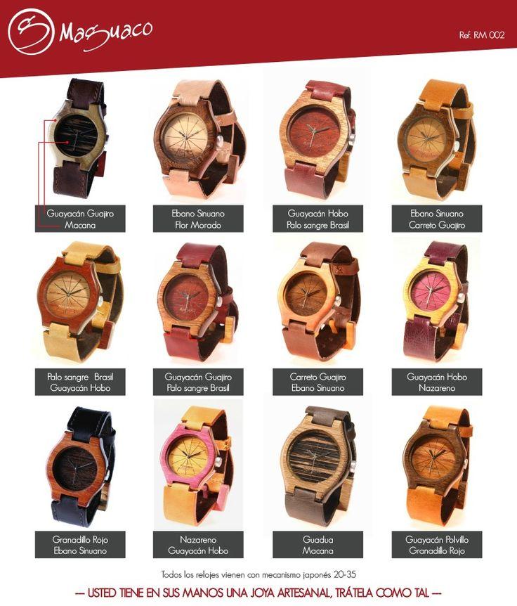 Relojes en Madera marca Maguaco RM002 $170.000