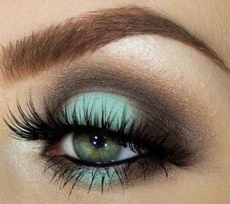 Макияж для серо-зеленых глаз: фото