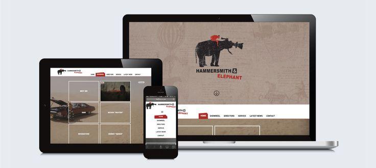 Hammersmith & Elephant Films: Responsive Website Design, Development and Management by Electrik Design Agency www.electrik.co.za