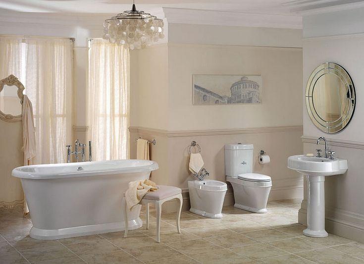 salle de bain rtro carrelage meubles et dco en 55 photos - Salle De Bain Beige Blanc