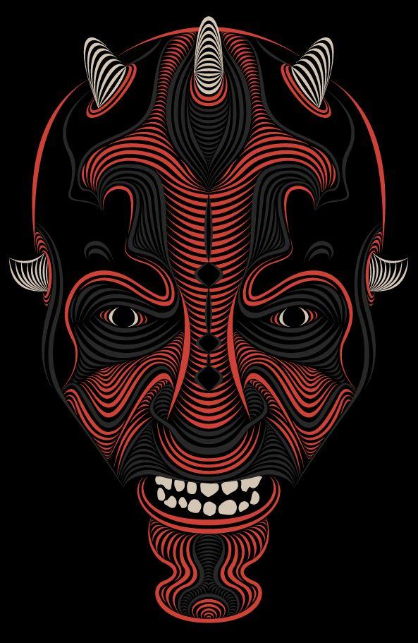Darth Maul by Patrick Seymour, via Behance