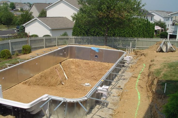 Saltwater above ground pool looks in ground inground vinyl pool photos pools spas forum for How much for swimming pool installation