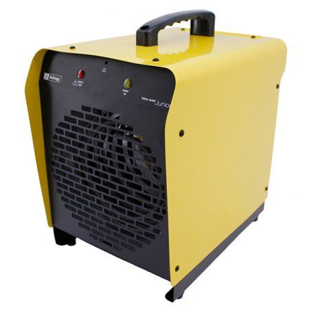 King Electric 240 Volt 4000 Watt Portable Garage Heater With Thermostat Cord and Bracket, Yellow