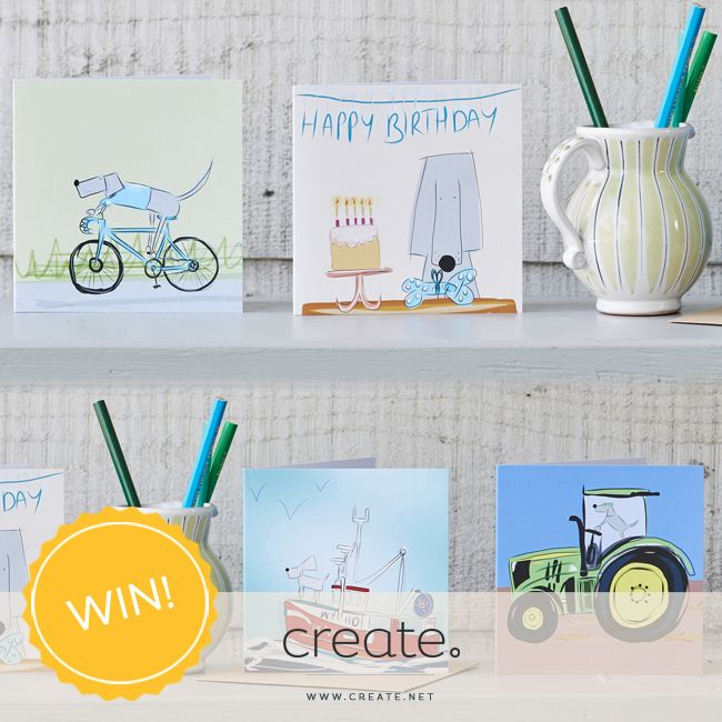 #WIN a set of 4 original design cards from designer Sarah Westwood with this week's Freebie Friday! Enter over on the Create Facebook page. facebook.com/create