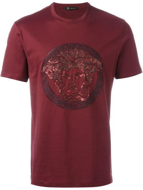 VERSACE Sequin Medusa T-Shirt. #versace #cloth #t-shirt