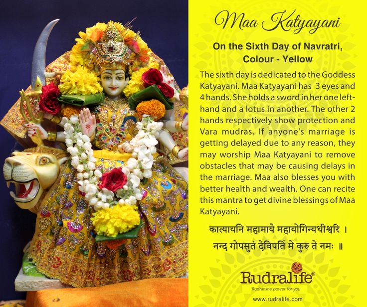 6th Day of Chaitra Navratri  #navratri #mata #hindu #india #festival #gudipadwa #navratra #navratre #rudralife #shiva #rudraksh #god #goddess #katyayani #maakatyayani