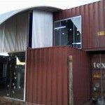 A casa container do Péricles Goes