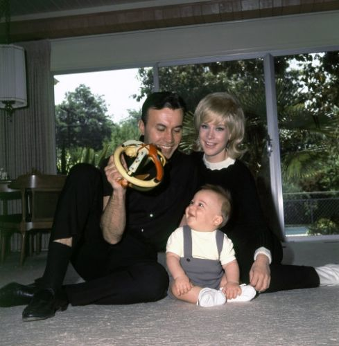 Barbara Eden - Michael Ansara is shown at home with wife Barbara Eden and their son Matthew, 9 months old, in Studio City, Calif., May 6, 1966. (AP Photo/David F. Smith)