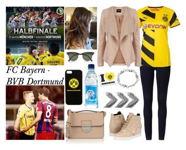 """На матч FC Bayern - BVB Dortmund!!"" by evil-maknae ❤ liked on Polyvore featuring Michael Kors, Puma, Oasis, Pierre Balmain, Alexander McQueen and Ray-Ban"
