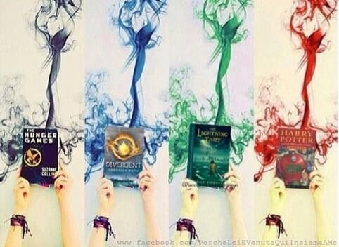 The Hunger Games, Divergent, Percy Jackson, and Harry Potter! :)