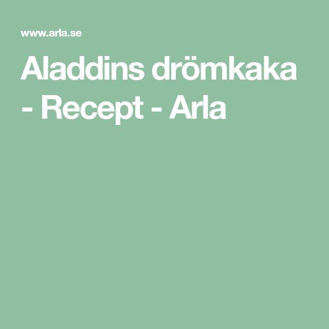 Aladdins drömkaka - Recept - Arla