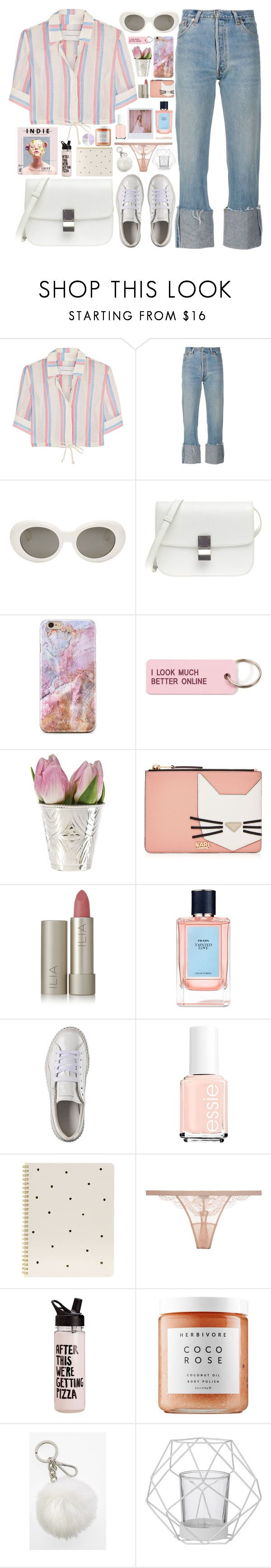 """""""322. Pastel City"""" by ass-sass-in ❤ liked on Polyvore featuring Solid & Striped, Acne Studios, Various Projects, Karl Lagerfeld, Ilia, Prada, Puma, Band of Outsiders, Sugar Paper and La Perla"""