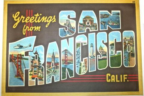 """San Francisco Print 20"""" x28"""""""