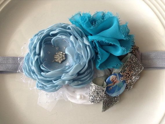 Frozen headband by JensBowdaciousBows on Etsy, $18.95