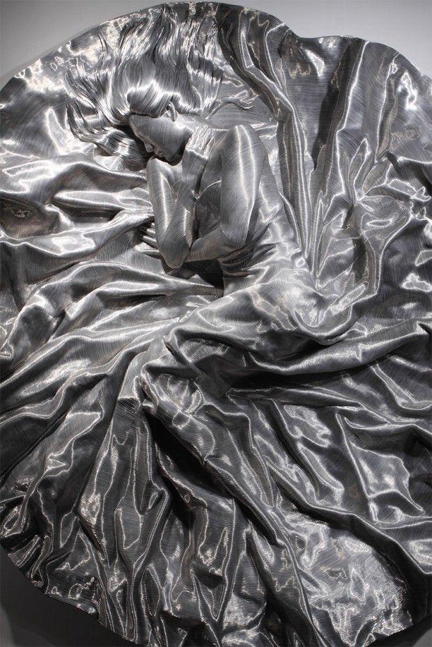 Sculptures en fil d'aluminium par Seung Mo Park