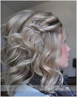 Hair, Hair && More Hair: How 2Hair Ideas, Hair Colors, Hair Tutorials, Medium Length, Shorts Hair, Hair Clips, Hair Style, Shoulder Length Hair, Bobby Pin