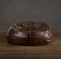 Restoration Hardware - Grand Leather Bean Bag Chair